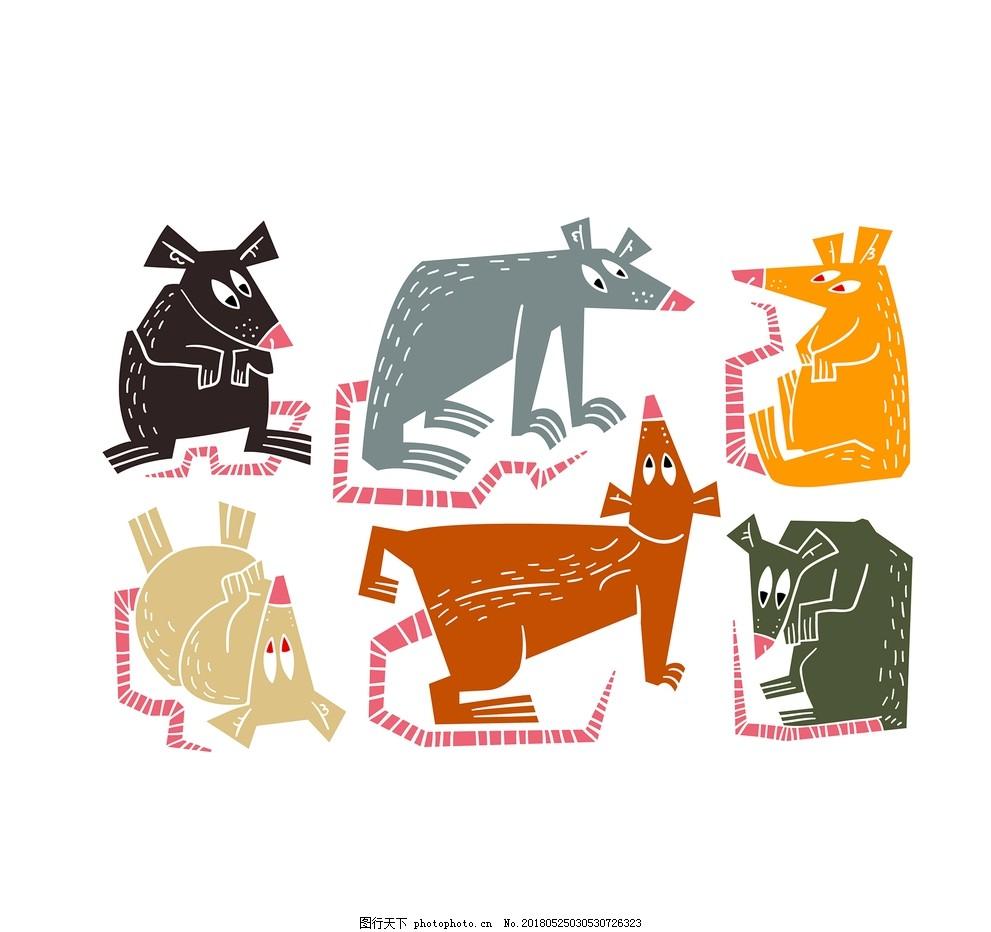 老鼠卡通形象,鼠年,鼠年吉祥物,2020,手绘老鼠,老鼠手绘,卡通老鼠